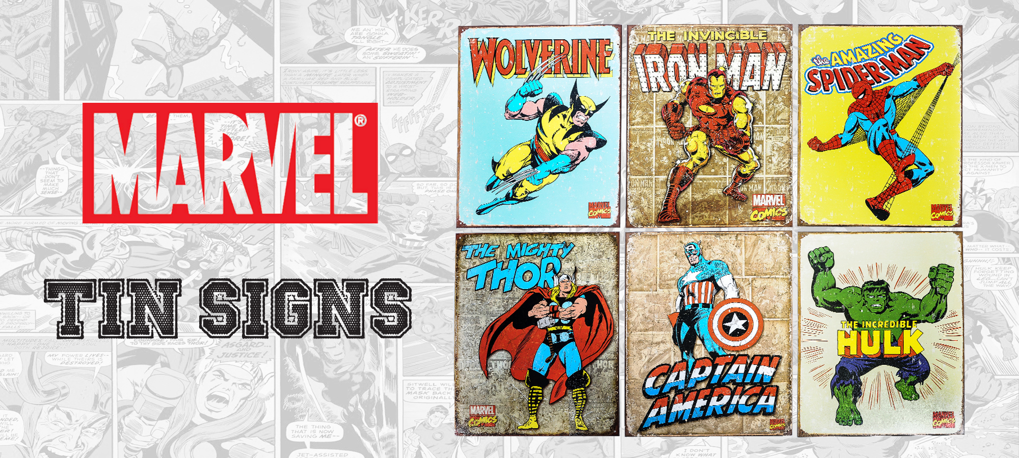 Marvel Tin Signs