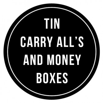 Tin Carry All's & Money Boxes