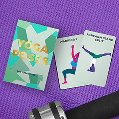 gift republic  100 yoga poses cards min 12  william